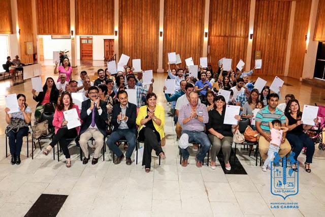 34 familias beneficiadas con entrega de subsidios en Las Cabras