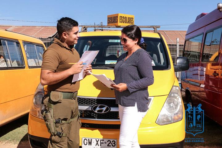 Exitosa concurrencia en fiscalización del transporte escolar en Las Cabras