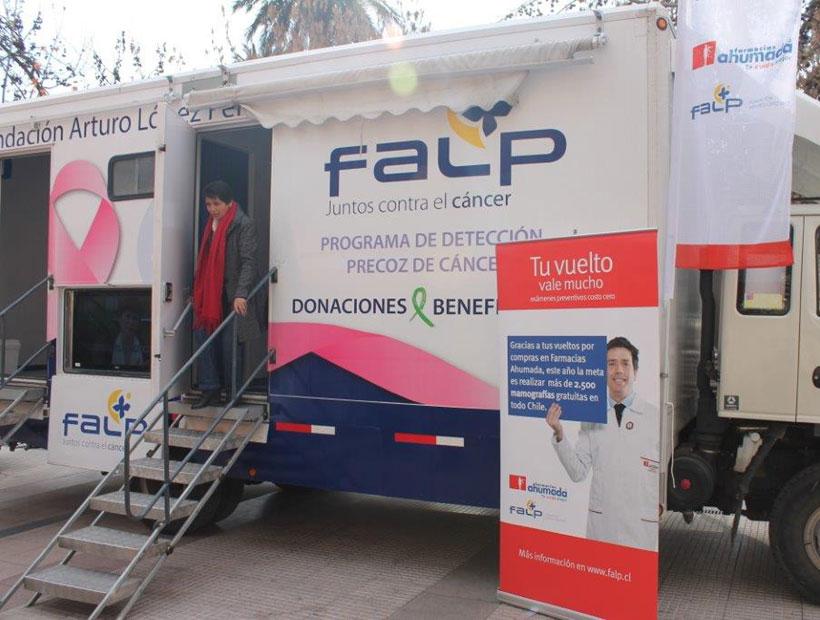Mamógrafo móvil llega  a Las Cabras para atender a 90 mujeres en forma gratuita