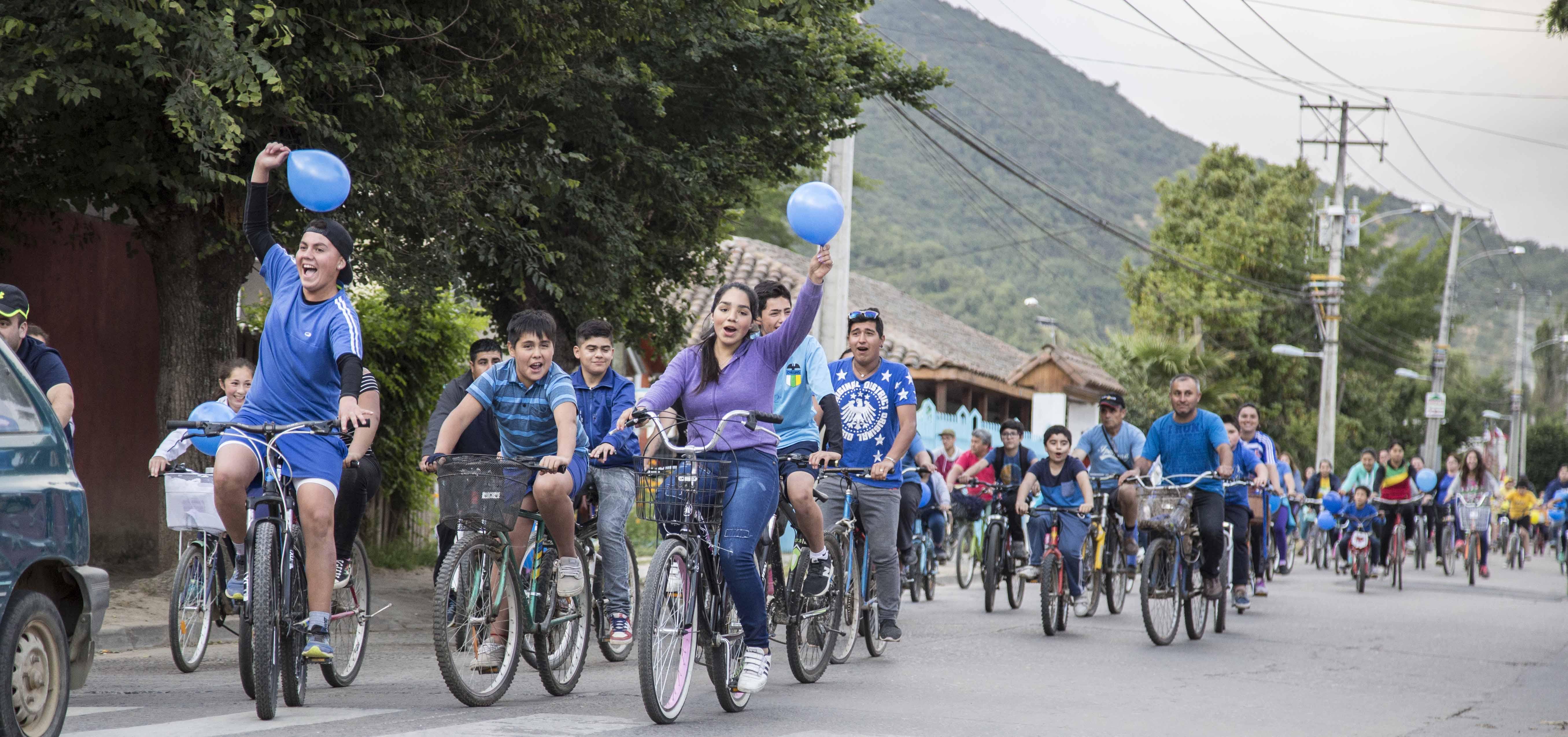 Cicletada familiar para celebrar 85 años del Colegio Romilio Arellano