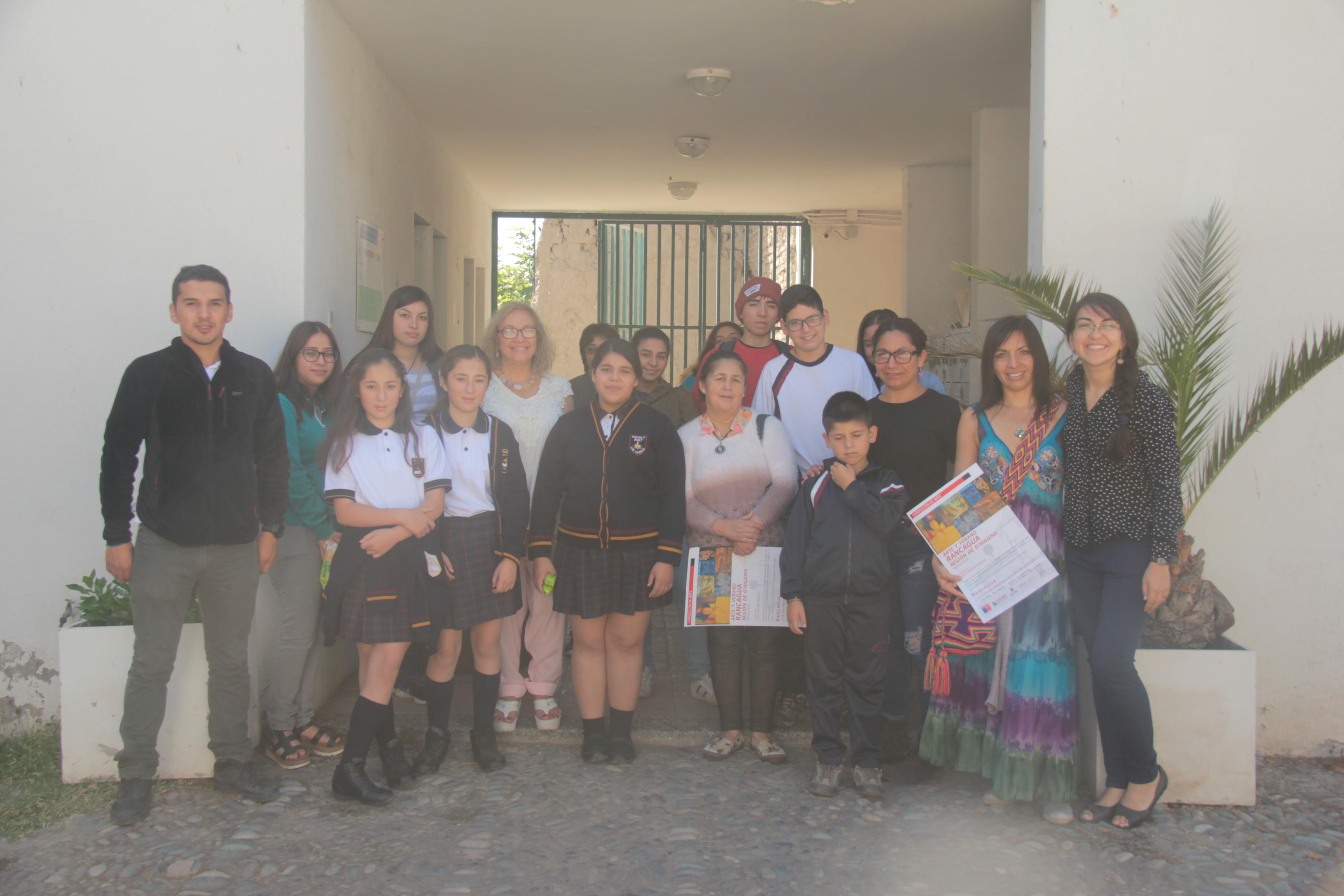 Alumnos de Las Cabras visitaron el Museo Regional de Rancagua