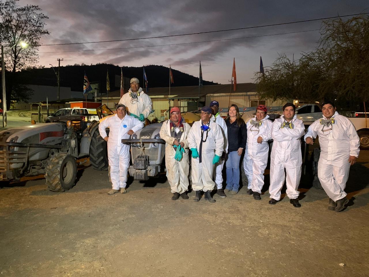 Municipio con apoyo de privados realiza Sanitización de calles y espacios públicos  de la Comuna