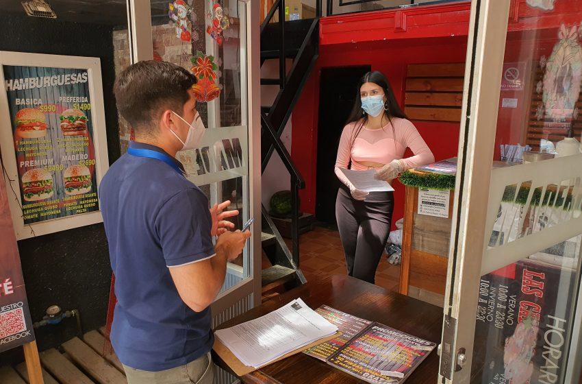 Visita a establecimientos gastronómicos de Las Cabras, por cambio de normativa en Fase Nº 2 (Transición)
